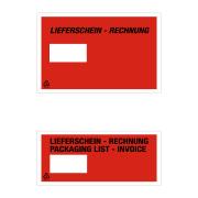 Lieferschein- und Dokumententasche Fenster links